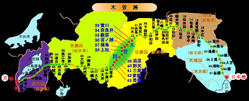 木曽路マップ